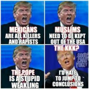 four faces of trump