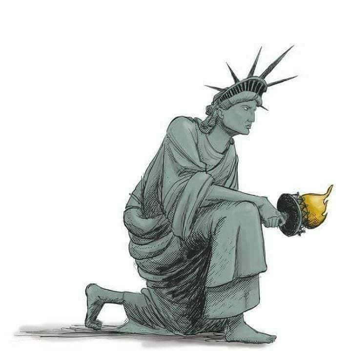 lady liberty kneeling