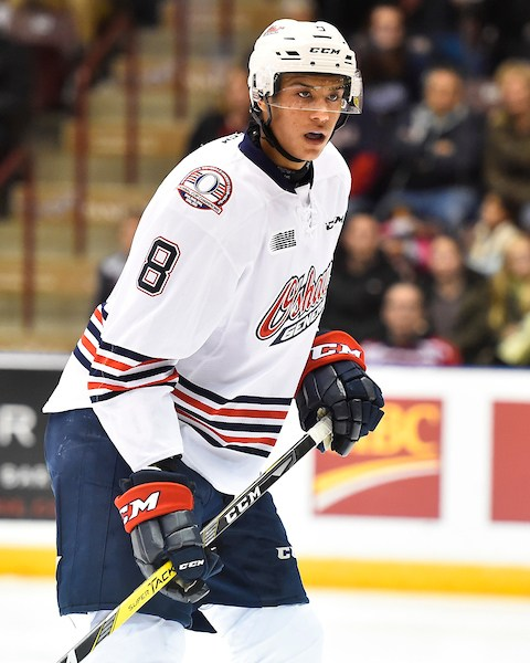 Serron Noel of the Oshawa Generals. Photo by Aaron Bell/OHL Images