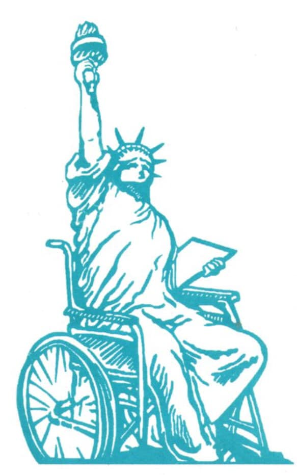 lady liberty in chair